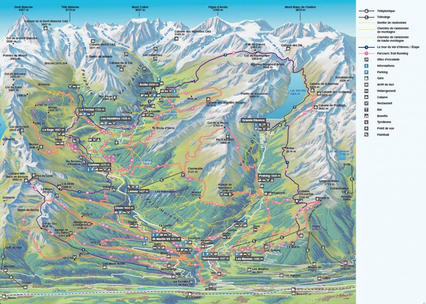 Plan de la vallée